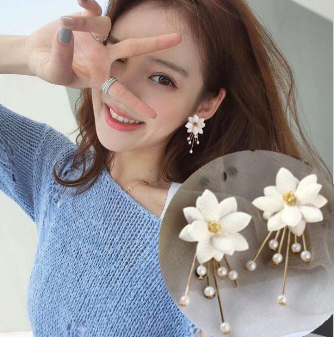 2way可愛い花びらモチーフのキュートなピアス INS大人気 スタッズピアス 夏
