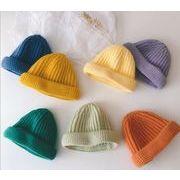 子供ハット 冬 キッズ 帽子 男女兼用 ニット帽 12色