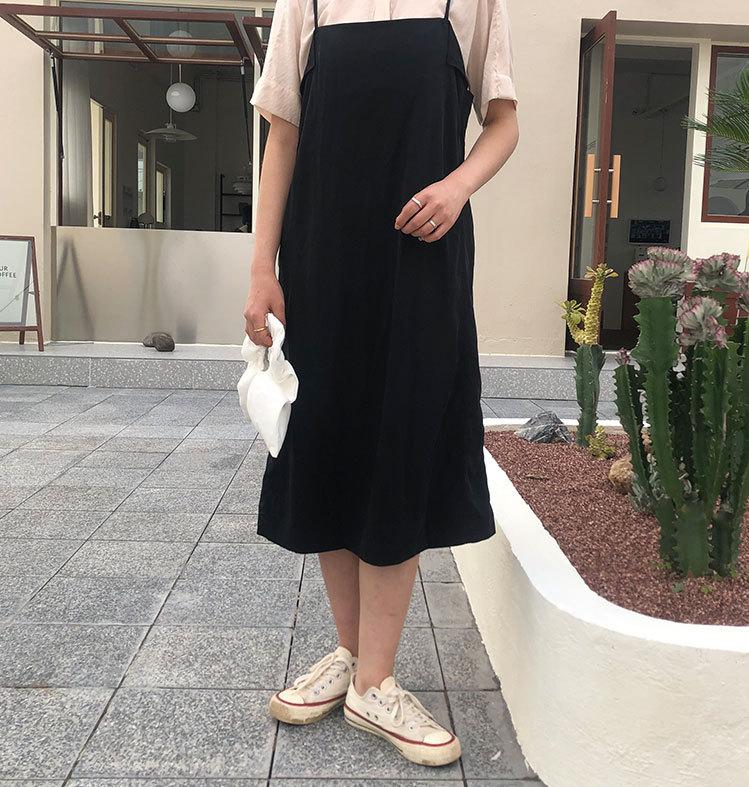 レディースファッション スカート 韓国スタイル キャミワンピース 春夏 ワンピース