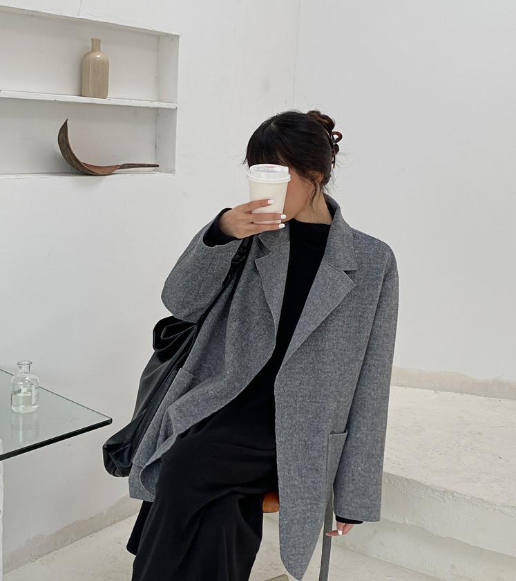 高級品質 秋冬 新作 韓国スタイル ロング丈 ラシャ アウター トップス レディース
