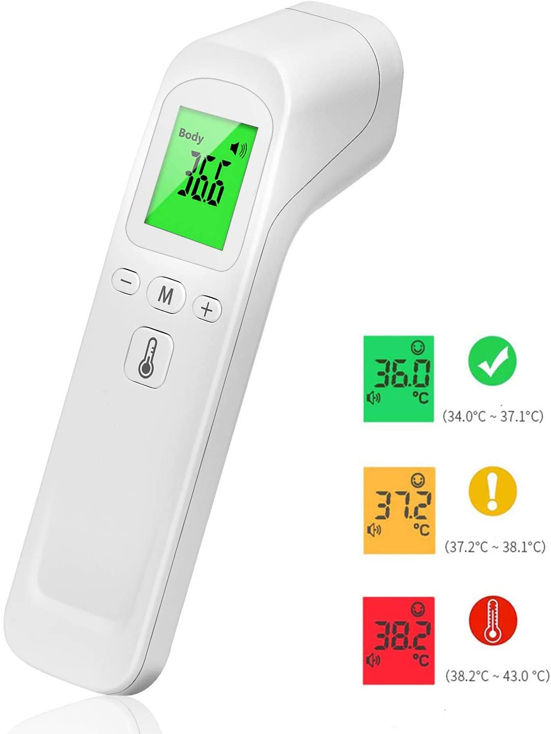 日本在庫あり 2-3日で配達 非接触体温計 温度計 赤外線測定 LEDデジタルディスプレイ 1秒高速温度測定