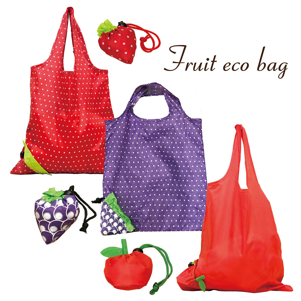 果物デザインが可愛いフルーツエコバッグ
