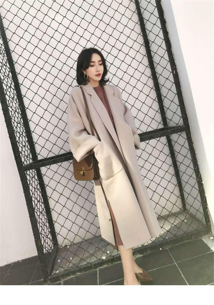 【即納】シンプルミドルのウールコート 全2色