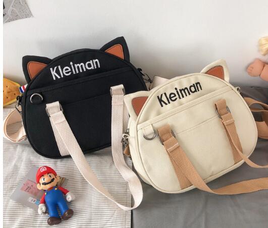 バッグ 鞄 カバン 斜め掛け 肩掛け 秋冬 帆布 かわいい 猫耳 トレンド 人気