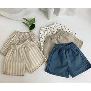 新作 韓国キッズ服 綿麻短パンツ 子供用パンツ 男の子女の子 ベビー透気バンパンツ 多款式