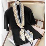 春新作 スカーフ デザイン 気質 チェック柄 レディース  幾何 ビンテージ 15*150cm