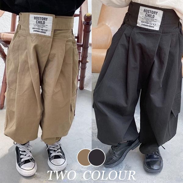 【KID】2021年韓国春新作カジュアルハイウエストロングパンツ 全2色