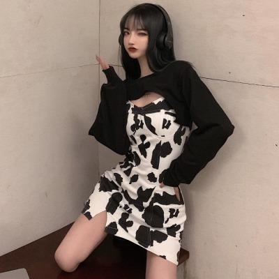 ファッション セット 女 春 新しいデザイン デザイン 感 短いスタイル 西洋風 セータ