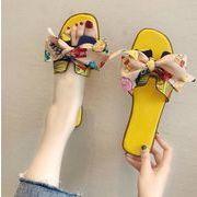 夏新作 サンダル  スリッパ  カジュアル 韓国ファッション フラットシューズ 蝶々 ビーチ