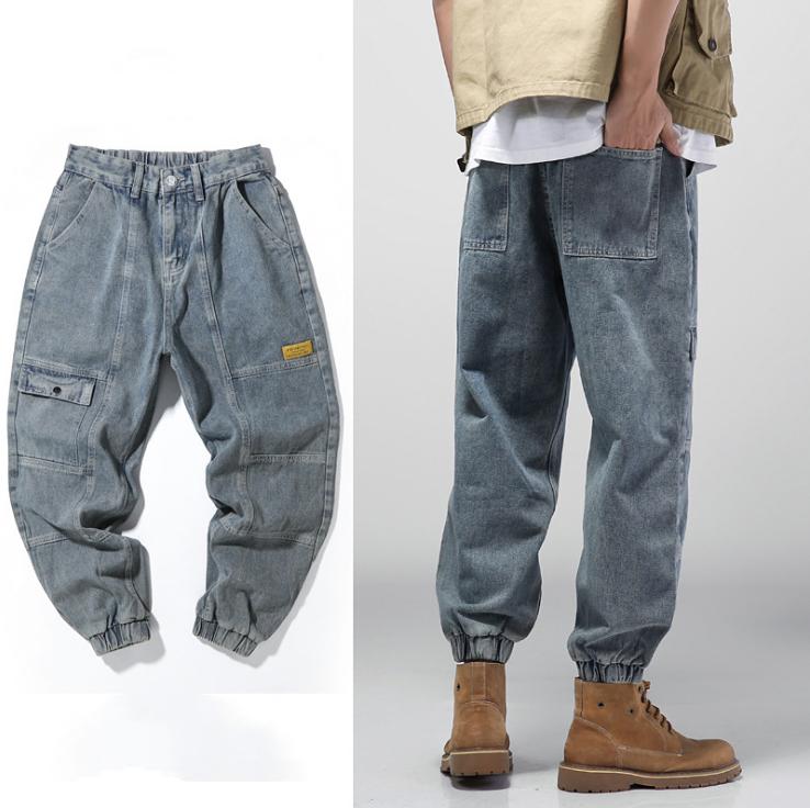 春新作 デニム ジーパン ゆったり レジャー ハーレムパンツ ズボン メンズ 韓国ファッション ボトムス