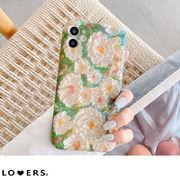 レトロアートフラワー iPhone スマホケース 【即納】韓国ファッション レディース