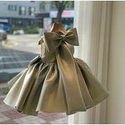 子供ドレス キッズドレス ワンピース ダンスドレス ノースリーブ 可愛い 3色 80-160 ドレスワンピ