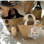 かごバッグ レディース 春夏 バケットバッグ 草編みバッグ かばん 麦わら トートバッグ 手提げバッグ