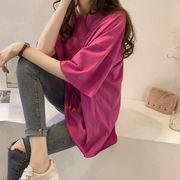 春夏新作 Tシャツ レディース服  韓国風 ゆったり Tシャツ 女の子トップス アウター