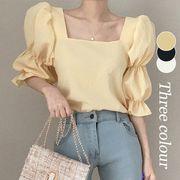 【Women】2021年春夏新作 パフスリーブブラウス 韓国ファッション