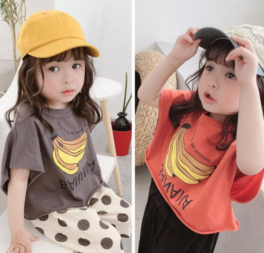 Tシャツ 子ども キッズ 夏 新作 可愛い バナナ 半袖 トレンド