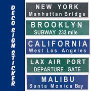 【革新的】 浮き出る DIY 壁紙シール DECO SIGN STICKER New York California 等