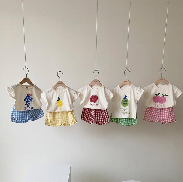 夏 2点セット tシャツ+ショットパンツ 子供服 キッズ セットアップ 果物 カジュアル系