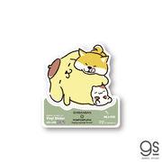 しばんばんxポムポムプリン 緑 ごろごろ キャラクターステッカー サンリオ コラボ 人気 柴犬 いぬ LCS1290
