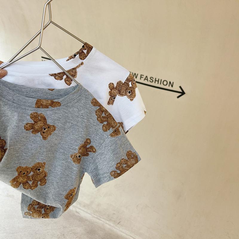 夏新作 子供Tシャツ 人気  小さなクマ 男の子 女の子  トップス  ブラウス 可愛い ファッション