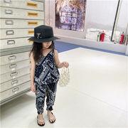 m17892 ズボン無袖 通気性 カジュアル  2021夏新作男の子 女の子  子供韓国子供服  キッズ  SALE