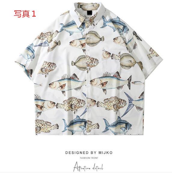 P10347 紫外線対策 日焼け止め 8色 メンズ ファッション 渋谷風 半袖 シャツ T-シャツ 男女兼用 SALE
