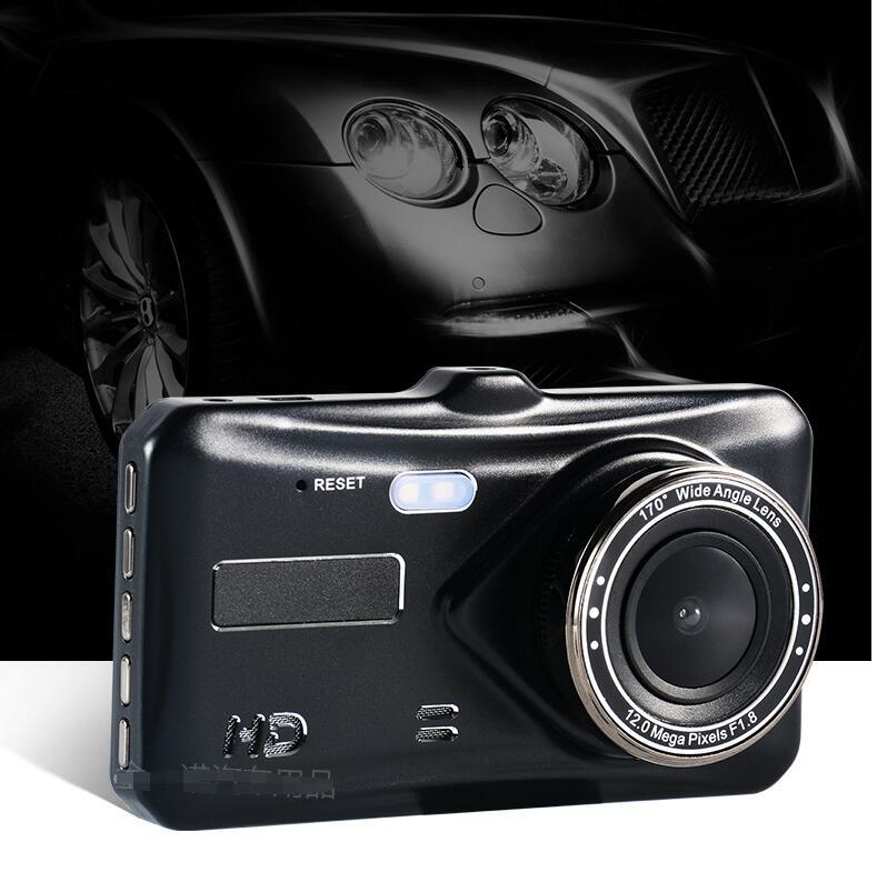ドライブレコーダー 前後 1080P  高画質 4インチ2.5D デュアルドラレコ  タッチ車載カメラ 常時録画