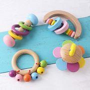 おもちゃ ラトル 天然木 4個セット ガラガラ 赤ちゃん おもちゃ  玩具 木の揺れる音 子供  出産祝い