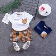【2点セット】新作 子供服  ベビー服  アパレル   半袖  tシャツ +ショットパンツ 男の子 80-120cm