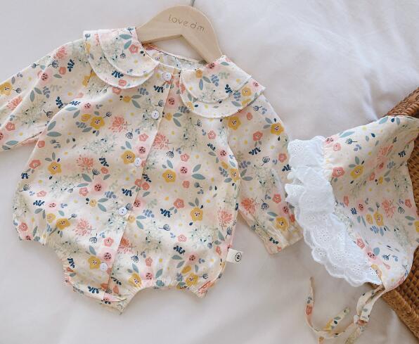 ロンパース キッズ 子ども 夏 かわいい カジュアル 小花柄 トレンド おしゃれ 人気