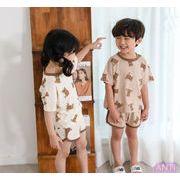 2021 夏  韓国 子供服 可愛 半袖 半ズボン セット 2色 人気