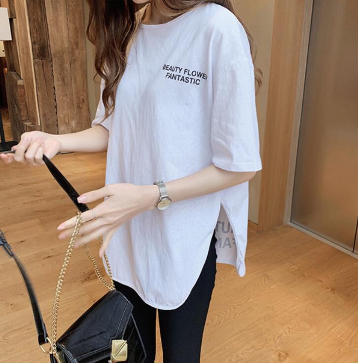 2021年夏新作 韓国風 レディース tシャツ プリント 半袖  レジャー 3色M-XXL