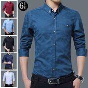 シャツ メンズ ワイシャツ yシャツ シャツ 長袖 カジュアルシャツ メンズ シャツ ホワイト 4
