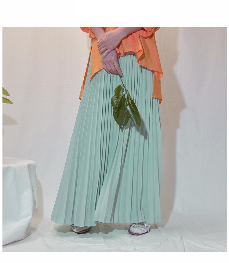 2021年春夏新作 レディース 韓国風 スカート プリーツスカート ゆったりする 快適 10色80-90cm