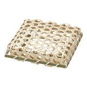 【即納可】和かご 竹かご 容器 ラッピング ギフト 贈答 ふた付き 正方形 27-36