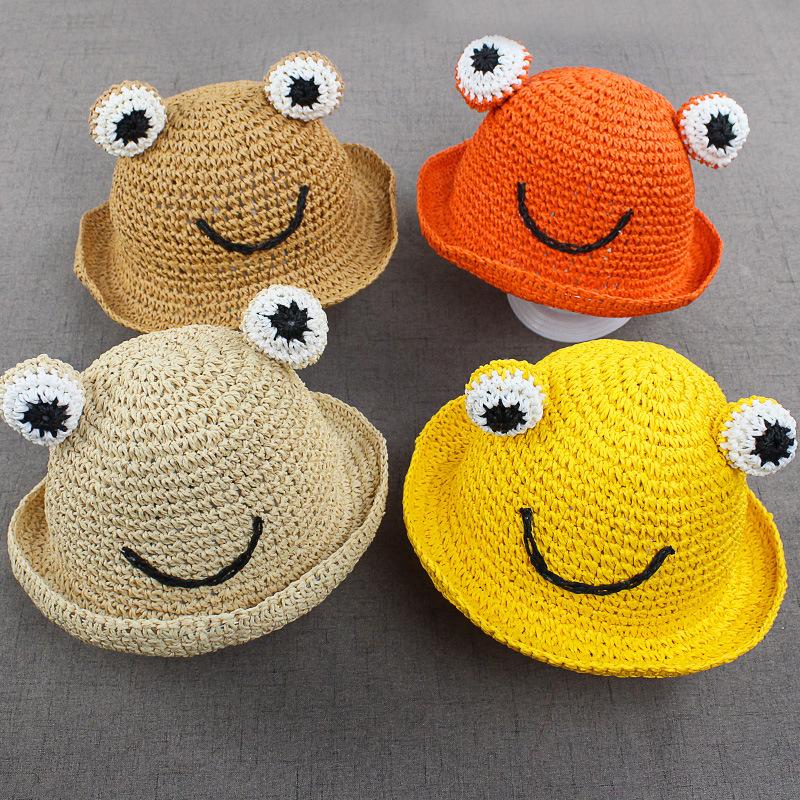 麦わら帽子 日焼け止めカット紫外線対策 キッズ帽子 可愛いキャップ 通気性