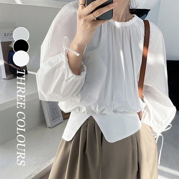 【Women】2021年春夏新作 韓国風レディース服 トップス 無地 体型カバー 夏 ファッション