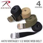 ロスコ 【Rothco】4470 VINTAGE1 1/2 WIDE WEB BELT ベルト メンズ カジュアル ミリタリー ガチャベルト