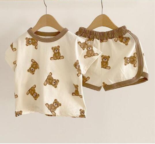 【KID】韓国風子供服 ベビー服 男女兼用シャツ&パンツセット カートゥーン 可愛い ルームウェア