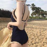 韓国ファッション ビキニ 水着  キャミ 水着 レディース カジュアル 一体型