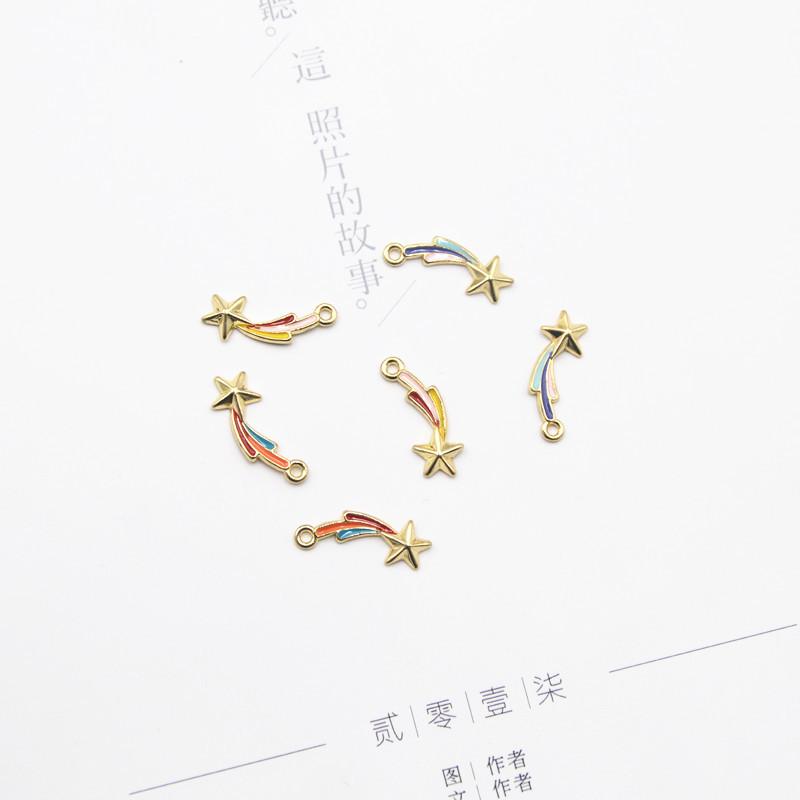 カン付きパーツ 流れ星 パーツ デコパーツ 資材 素材 アクセサリー パーツ 材料 ハンドメイド 卸 問屋 手芸
