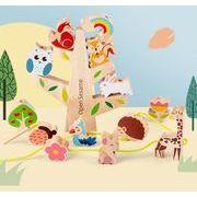 玩具 キッズ 早教育 積み木 アニメ模様 子供用品 知育玩具 おもちゃ・ホビー積み木 遊びもの 木製