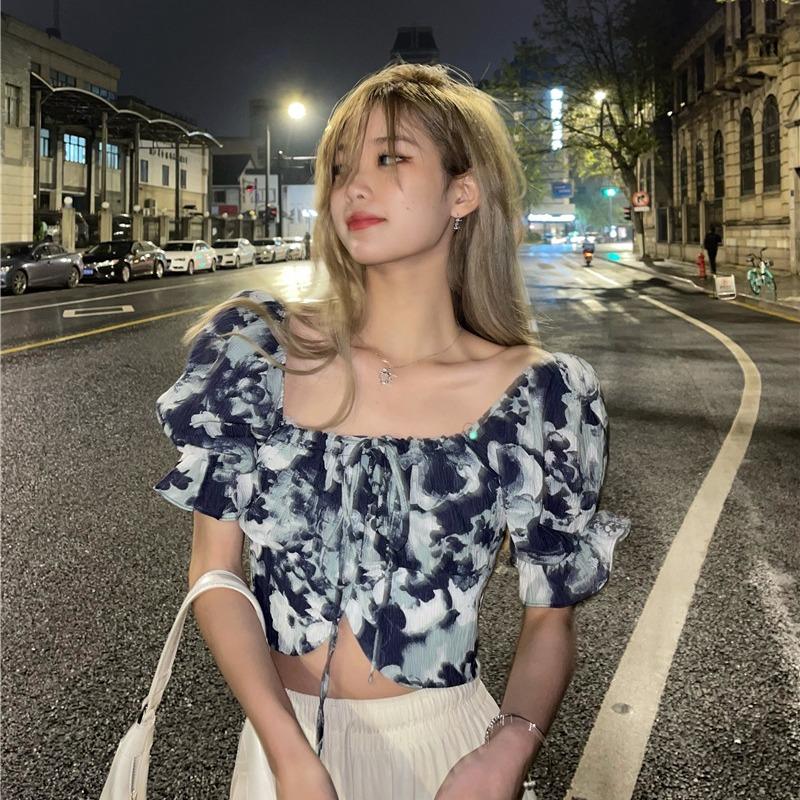 韓国 韓国ファッション フェミニン  レディース ブラウス フリル ガーリー