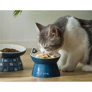 韓国ファッション 猫ボウル 陶磁器 ハイフット ダブルボウル フードボウル 犬ボウル飲用ボウル 可愛い