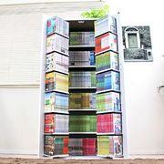 DVDラック CD コミック本棚ストッカー収納庫 日本製 ホワイト 大量収納 ラック・シェルフ