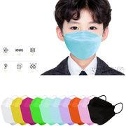 新作 KF94 子供マスク 不織布マスク 防塵 防花粉 通気性 使い捨てマスク 4層構造 柳葉型 夏マスク 3D立体