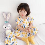 ベビーワンピースガールドレス2021サマープリンセスドレス韓国製品ベビークロールバッグおなら服子供