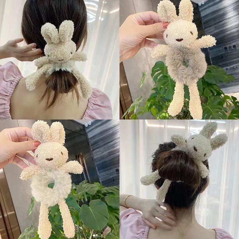 韓国ネットレッドベアヘッドロープインかわいいヘアロープネクタイヘアラバーバンドぬいぐるみ