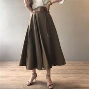 大人の可愛さが詰まった1枚 ハイウエスト 縫付 スカート レディース 2021年初秋 新作