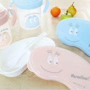 離乳食容器とストローマグのギフトセット! BARBAPAPA(バーバパパ)ベビーギフトセット